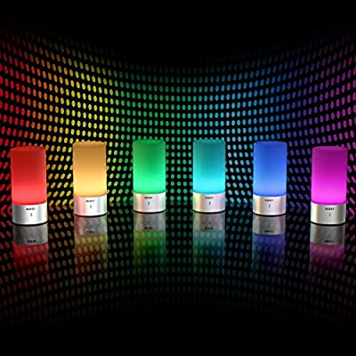 AUKEY ナイトライト ベッドサイドランプLEDライト テーブルランプ LED イルミネーションライト ムードランプ 雰囲気作りライト 照度調節&交替点灯 LT-T6 (ホワイト)