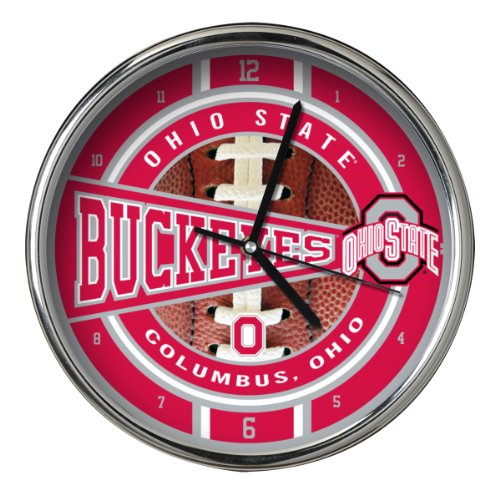 NCAA Ohio State Chrome Clock