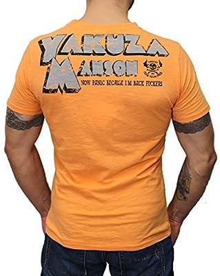 Yakuza Herren T-Shirt TSB 506 Manson in blazing orange von S-5XL