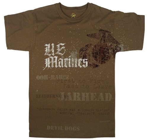 Vintage Brown U.S. Marines Globe & Anchor T-Shirt