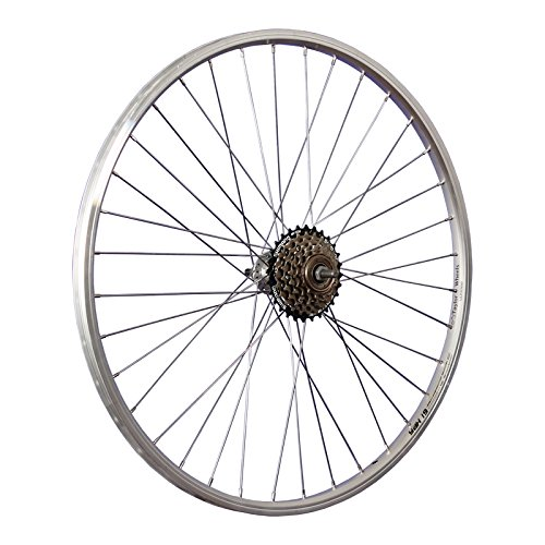 Taylor Wheels 26 Zoll Hinterrad YAK19 mit 6fach Shimano Schraubkranz – silber