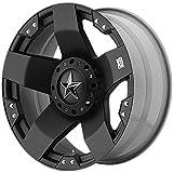 """KMC XD Series XD775 Rockstar Matte Black Wheel (17x9""""/5x127, 135mm)"""