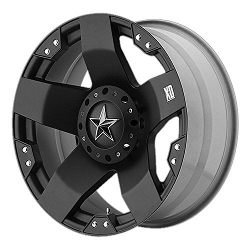 XD Series by KMC Wheels XD775 Rockstar Matte Black Wheel (17x9