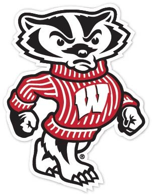 Wisconsin Badgers NCAA Vinyl Sticker Decal 9