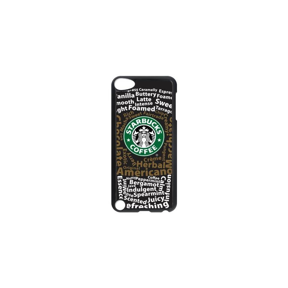 CTSLR Custom Starbucks Logo Protective Hard Case Cover Skin for iPod Touch 5 5G 5th Generation  1 Pack   Black/White  1