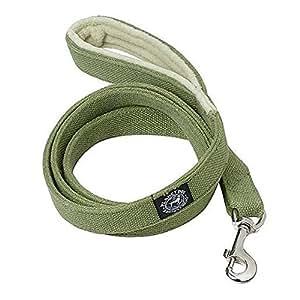 Planet Dog 5' Natural Hemp Leash with Fleece Lined Handle, Apple Green