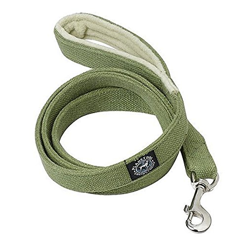 Planet Dog 5' Natural Hemp Leash with Fleece Lined Handle, Apple Green (Hemp Dog Harness compare prices)