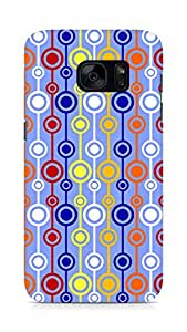 Amez designer printed 3d premium high quality back case cover for Samsung Galaxy S7 (Retro Pattern2)