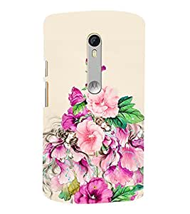 Floral Painting 3D Hard Polycarbonate Designer Back Case Cover for Moto G Turbo Edition