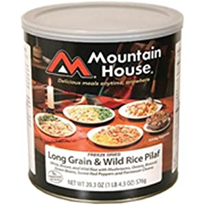 Mountain House Long Grain & Wild Rice Pilaf #10 Can Freeze Dried Food - 6 Cans... by Mountain House