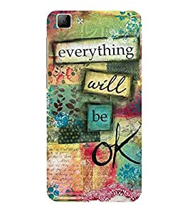 ifasho everything will be ok quotes Back Case Cover for VIVO Y35