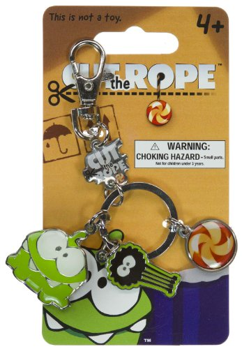 Cut the Rope Metal Keychain (Om Nom, Spider,
