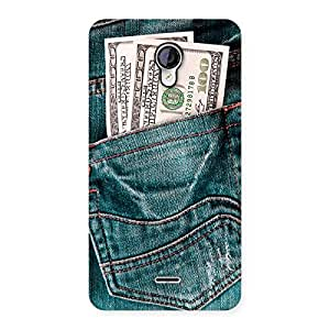 Cute Full Dollar Jeans Back Case Cover for Micromax Unite 2 A106