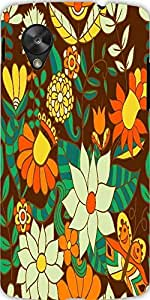 Snoogg Abstract Floral Background Designer Protective Back Case Cover For Lg ...
