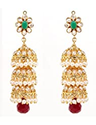 Akshim Multicolour Alloy Earrings For Women - B00NPYA4EA