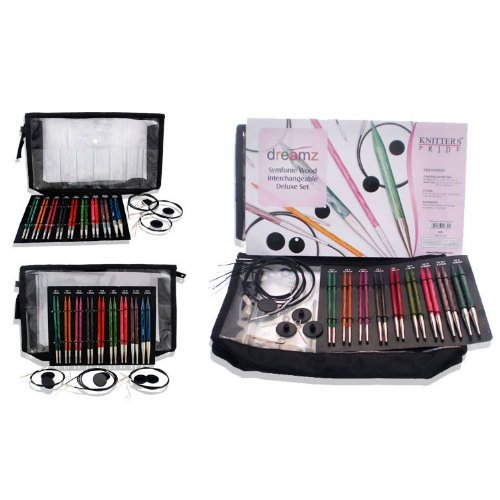Knitter's Pride Dreamz Deluxe Interchangeable Long Tip Knitting Needle Set 200601