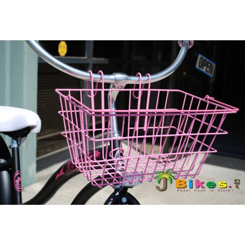 Micargi Lift-off with Handle Portable/hanging Beach Cruiser Bicycle Bike Basket Pink