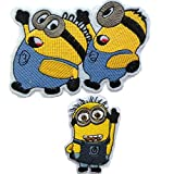 Embroidered Iron/sew on Patch Cloth Applique Set of 2 (Despicable Me) (Color: despicable me)