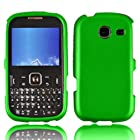 LF 3 in 1 Hard Case Cover, Stylus & Droid Screen Wiper Bundle Accessory For Tracfone Straight Talk Prepaid Cell Phone Samsung S380C (Green)