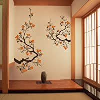 Cherry Blossom Wall Sticker Large Decal Decor (Default (Brown-Persimmon), Size 3) by DecalYourWall