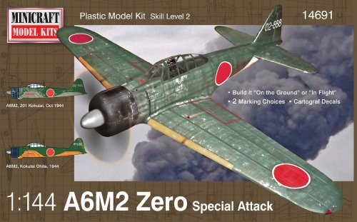Minicraft A6M2 Zero IJN/IJA Airplane Model Kit (1/144 Scale) - 1