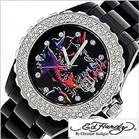 エドハーディー腕時計[EdHardy時計]( Ed Hardy 腕時計 エド ハーディー 時計 )ロキシー(ROXY)/メンズ/レディース/男女兼用時計EDHARDY-RX-BK