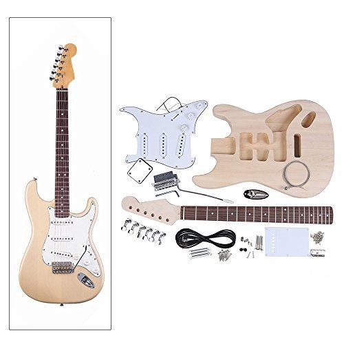 Andoer® Chitarra Elettrica ST Style Tiglio Corpo Manico in Acero Tastiera in Palissandro DIY Corredo
