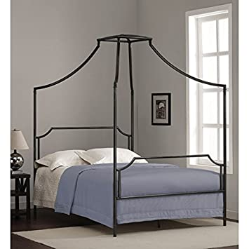 Bailey Charcoal Full-size Canopy Kids Bed Frame