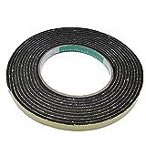 多用途 クッションテープ スポンジテープ 強力 粘着 屋内 用 クロス 付き (1.ブラック 厚み3mm 幅1cm)
