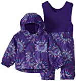 Columbia Baby Girls' Newborn Fresh Pow Set, Hyper Purple Pinwheel,  3/6 Months