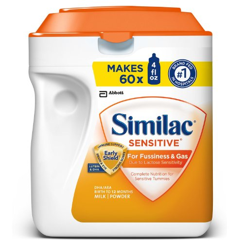 Similac Sensitve Infant Formula for Fussiness and Gas, Makes 240 Fluid Ounces