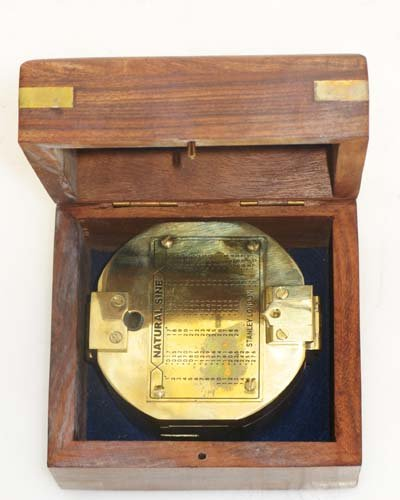 "3"" Brunton Style Compass w/Box - Navigational Instrument 3"