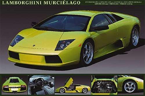 Lamborghini Murcielago Racing Sports Car Poster 24 x 36 inches