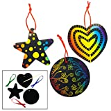Magic Color Scratch Ornaments Craft Kit (24 pc)