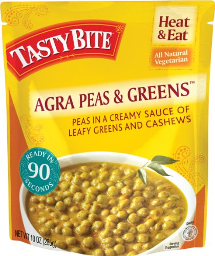 Tasty Bite Agra Peas & Greens, 10-Ounce Boxes (Pack of 6)
