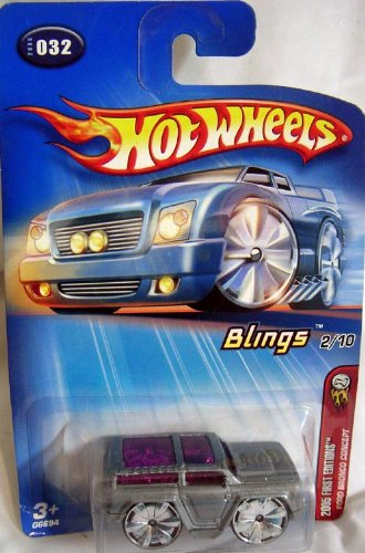 HOT WHEELS BLINGS 2/10 2005 FIRST EDITION FORD BRONCO CONCEPT DIE CAST VEHICLE - 1