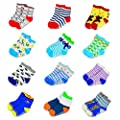 6 Pairs Anti-slip Socks Toddler Socks, SUMERSHA Assorted Kids Socks Size Ages 2-3 Years Animal Print Boys Girls Socks Random Pattern from SUMERSHA