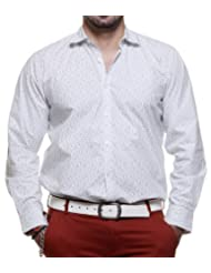 TOG Cotton Shirt For Men (White/Black)