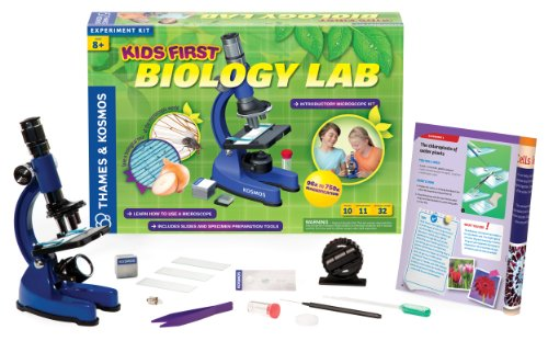 Thames & Kosmos 635213 Kids First Biology Lab Science Experiment Kit With Coloring Book