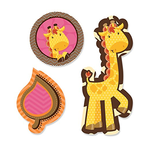 Big Dot Of Happiness - Giraffe Girl - Shaped Baby Shower Cut-Outs 24 Count front-676247