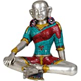 Goddess Green Tara (with Inlay Work) - Brass Statue