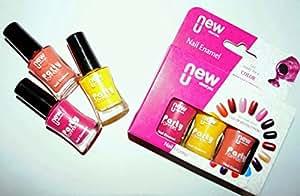NewU Nail Enamel Party Neon + Pixie + Electric Orange