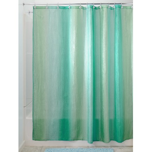 interdesign ombre fabric shower curtain 72 x 72 blue