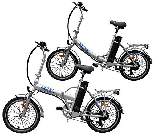 Ein-Paar-2-Stk-20-Zoll-SWEMO-Alu-Klapp-E-Bike-Pedelec-SW100-SW200-Modell-2016-Silber