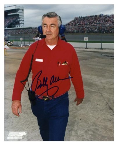 "Bobby Allison Autographed 8"" X 10"" Standing Headset Photograph - Memories - Mounted Memories Certified"