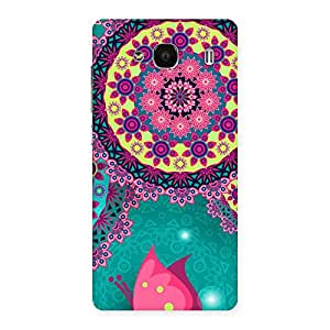Special Vintage Round Pattern Multicolor Back Case Cover for Redmi 2s
