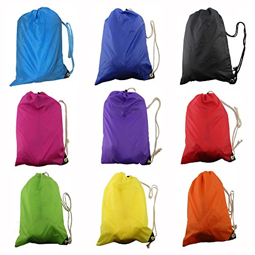 (Orange) Lazy Bag Laybag Lay Bag Sleeping Bag Fast Inflatable Camping Air Sofa Sleeping Beach Bed Banana Lounge Bag Air Bed Lounger (2007 F150 Seat Covers Orange compare prices)