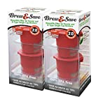 Brew and Save Refillable K Cup for Keurig 2.0 and 1.0 Brewers, 4-count