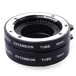EACHSHOT DG-NEX Aluminum Auto Focus AF Macro Extension DG Tube Auto Focus for Sony E-Mount NEX-7 NEX-6 NEX-5R NEX-5T NEX-3N NEX-F3 NEX-5N NEX-5C NEX-C3