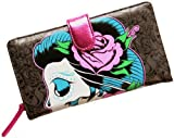 Iron Fist Sugar Skull Grey Witch Clutch Wallet